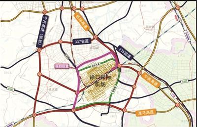 溧马高速机场连接线紫色示意图