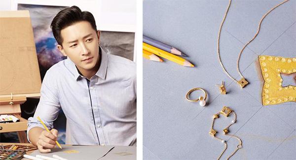 """打着""""最懂女人心""""的旗号,韩庚首次触电珠宝设计。"""