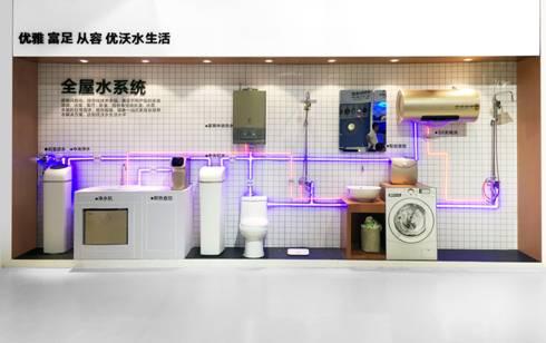 五金和新风系统产品,通过体验式整体厨房展示方案,定制式厨房空间设计