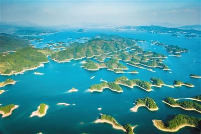 航拍千岛湖。原料图片/视觉中国