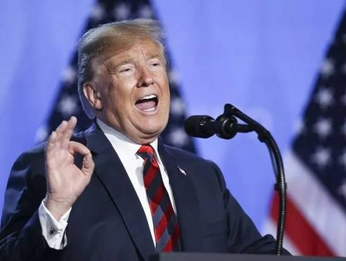 材料图片:2018年7月12日,在比利时布鲁塞尔的北约总部,美国总统特朗普召开音讯颁布发表会。(新华社记者叶浅显摄)
