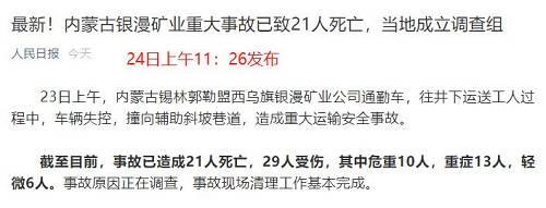 资料显示,此次灾难发生的银漫矿业公司,为A股上市公司兴业矿业旗下全资子公司,并且在近日被内蒙古相关部门认定为高新技术企业,认定证书有效期为3年。