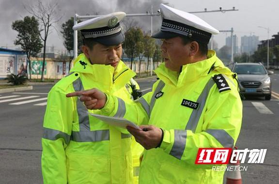 常德交警直属一大队开展道路交通事故现场勘查实战培训