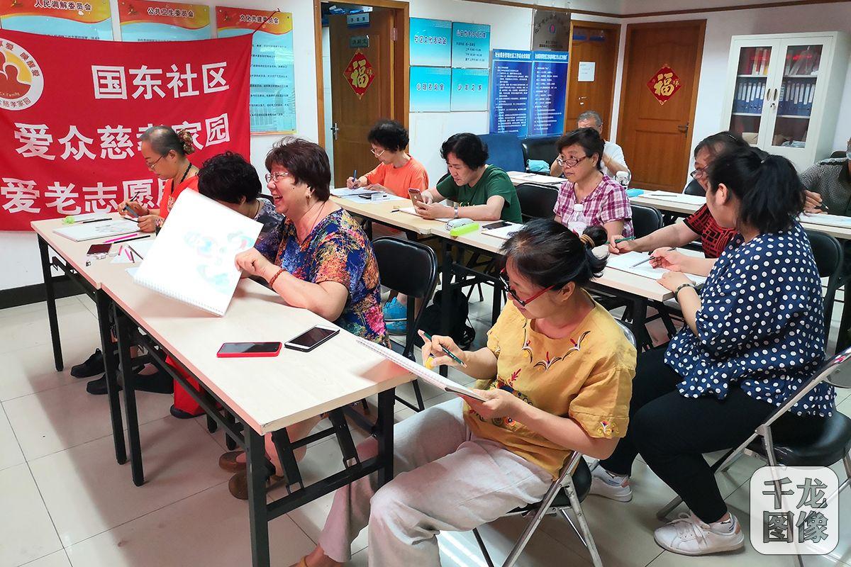 北京東城國東社區開展繪畫大講堂活動