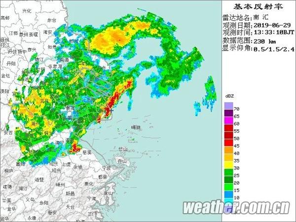 上海雷电大风暴雨三大预警齐发 注意出行安全