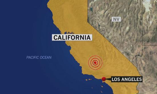 美国南加州发生6.4级地震 引发火灾和管道破裂