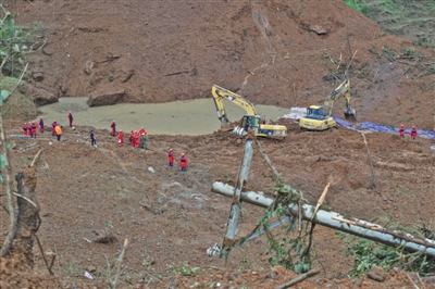 贵州六盘水山体滑坡 多部委调拨力量救灾