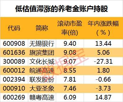 最新养老金持仓动向曝光:4股半年报业绩预计翻番,7股低估值滞涨