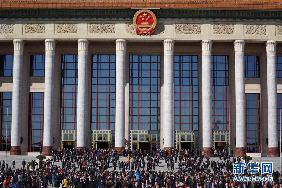 2019年3月13日,中国人民政治协商会议第十三届全国委员会第二次会议在北京人民大会堂闭幕。 新华社记者 陈晔华