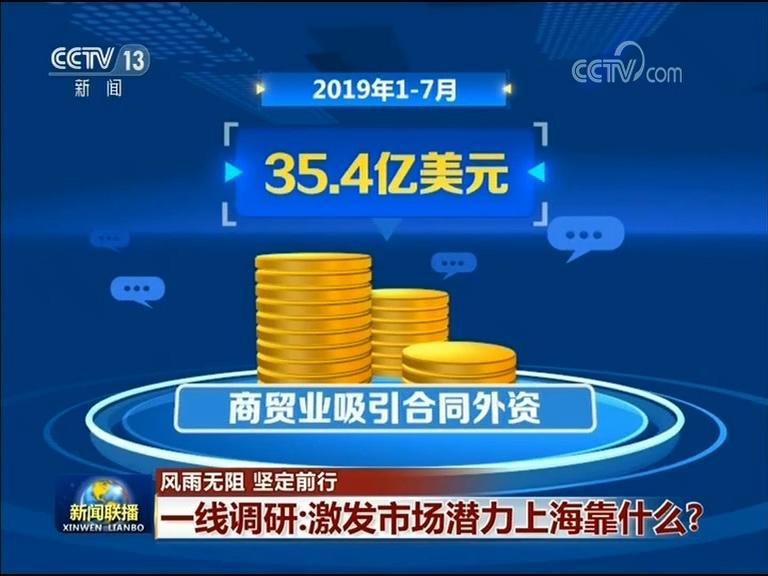 今年1至7月,上海市吸引外资商贸业项目1506个,占项目总数的36.7%。商贸业吸引合同外资35.4亿美元,占比为12.9%。