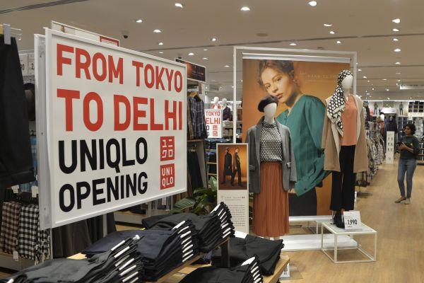 10月3日,优衣库印度1号店在印度首都新德里开业。(法新社)