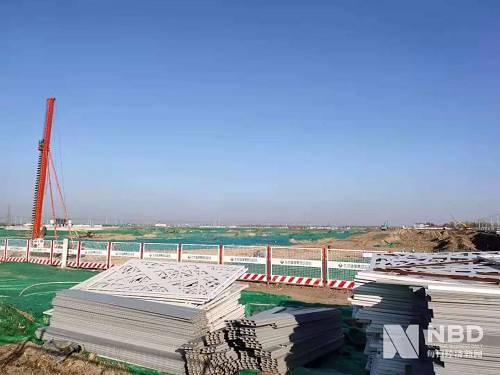 施工中的项目现场 每经记者 王佳飞 摄