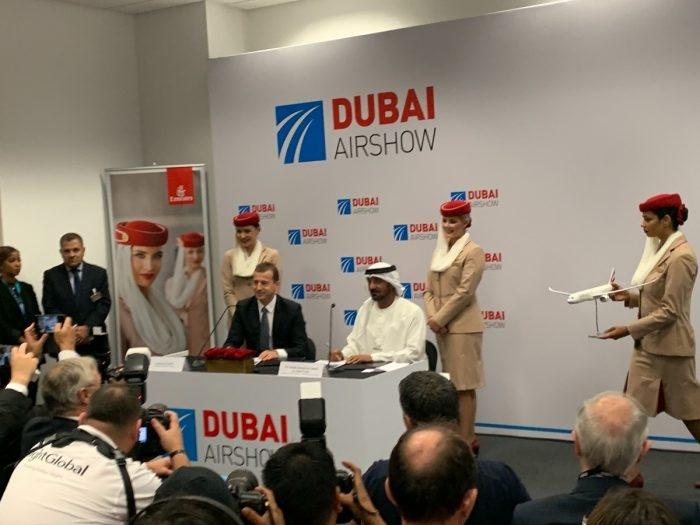 阿联酋航空迪拜航展首日签大单!