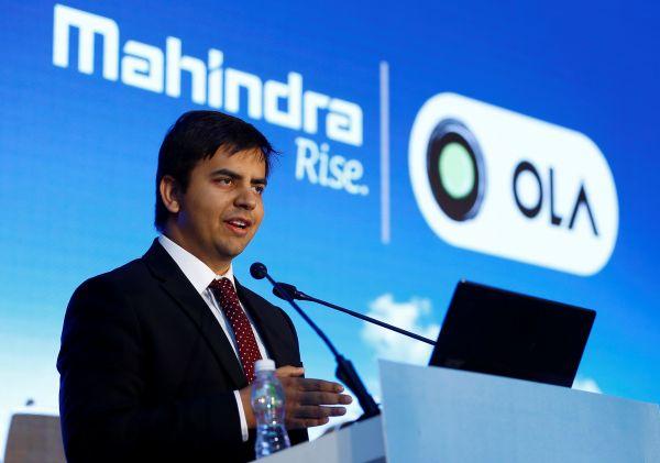 资料图片:2016年,印度孟买,Ola首席执行官兼联合创始人哈维什·阿加瓦尔出席新闻发布会。(路透社)