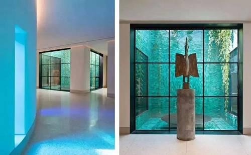 通过不同材质的运用和巧妙的借助自然力量,室内空间的游历变成了诸多风格的体验。