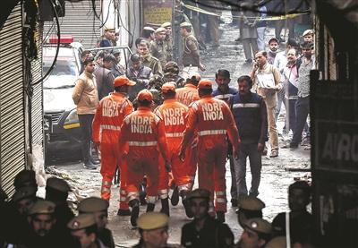 印度新德里一工厂火灾