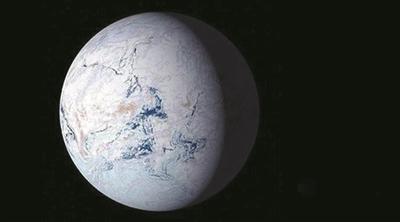 冰川时期的地球 是个白色的球