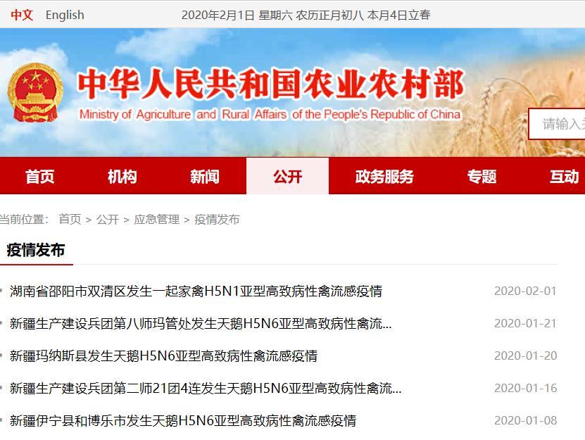 新疆湖南连发5首禽流感疫情,庞大动物疫情现象仍厉峻