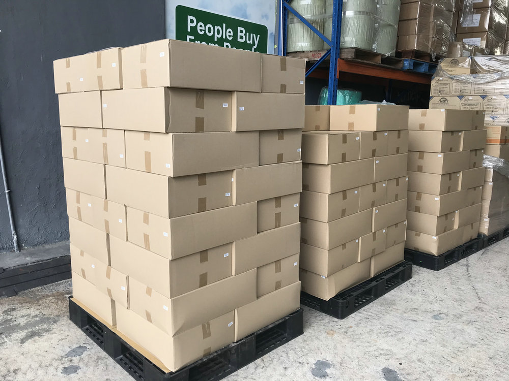 马来西亚中国银行捐赠的疫情防控物资
