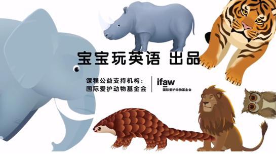 """宝宝玩英语携手国际爱护动物基金会推出""""野生动物保护""""公益课"""