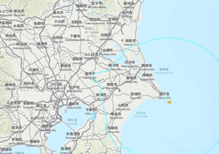 日本东部海域发生5.6级地震 震源深度41千米