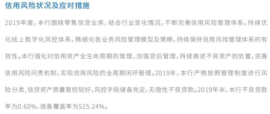 图6:四川新网银行信用风险状况,截自该行2019年报