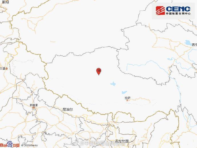 西藏那曲市尼玛县发生4.6级地震 震源深度7千米