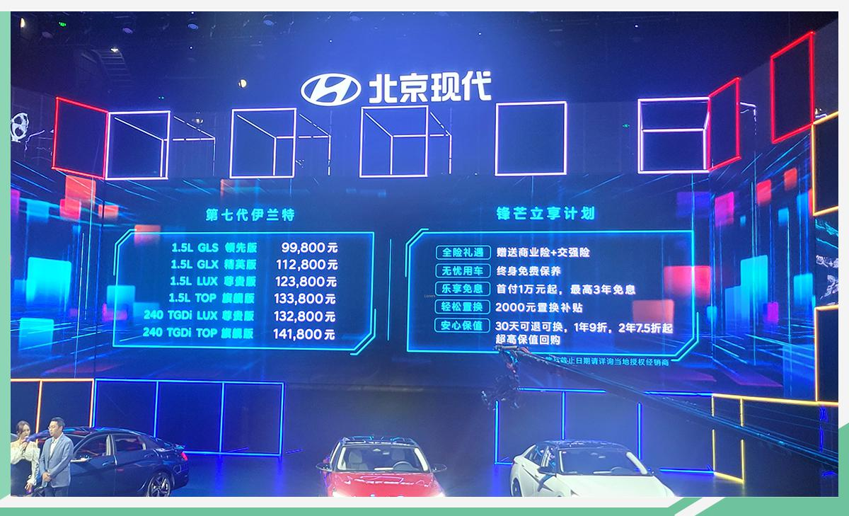 9.98万元起售 北京现代第七代伊兰特正式上市