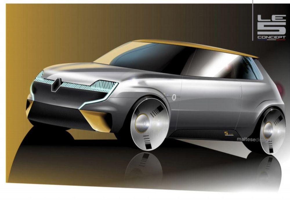电动技术复活经典车型 曝雷诺Le 5概念车渲染图