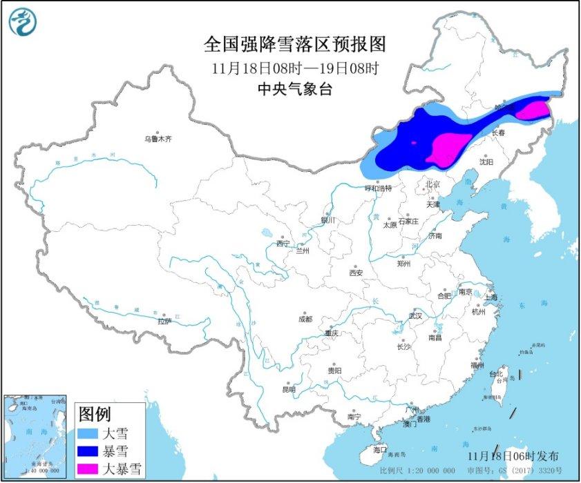 暴雪橙色预警:内蒙古、河北等地有大到暴雪