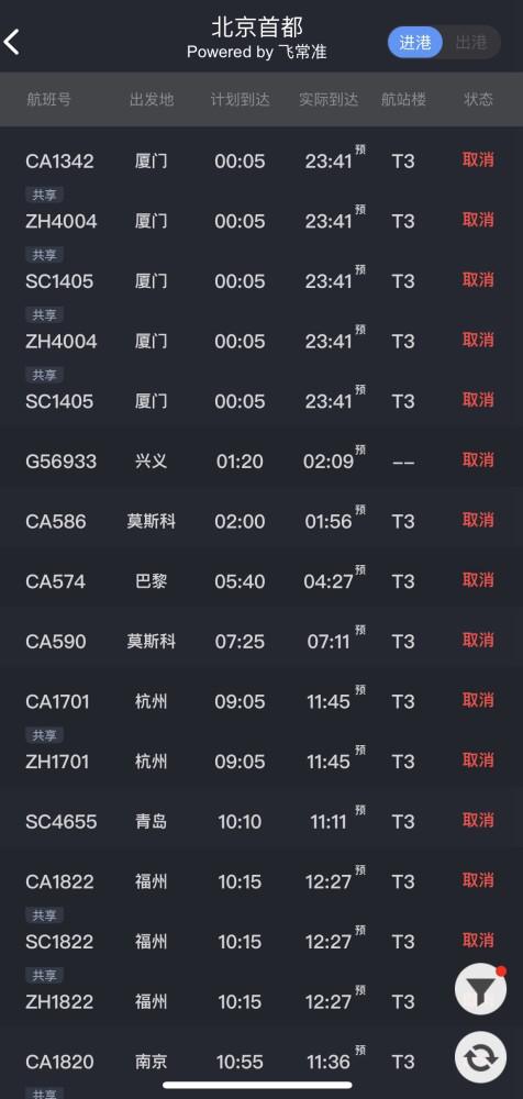 时隔6年北京再遇沙尘暴:两大机场航班取消超400架次