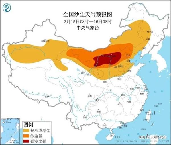 14省区市将出现扬沙或浮尘天气:最高降温超14℃、局地有沙尘暴