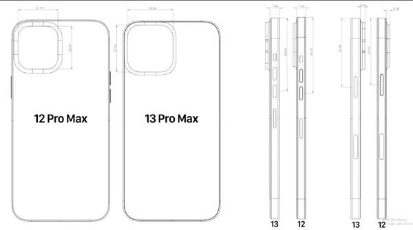 厚了+大了 iPhone 13 Pro Max对比iPhone 12 Pro Max