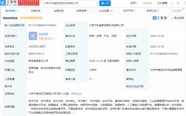 """联想创投投资""""中科睿医"""",后者由中国科学院孵化成立"""