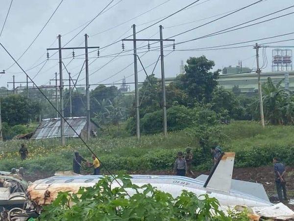 外媒:缅甸一架军用飞机失事 至少12人死亡