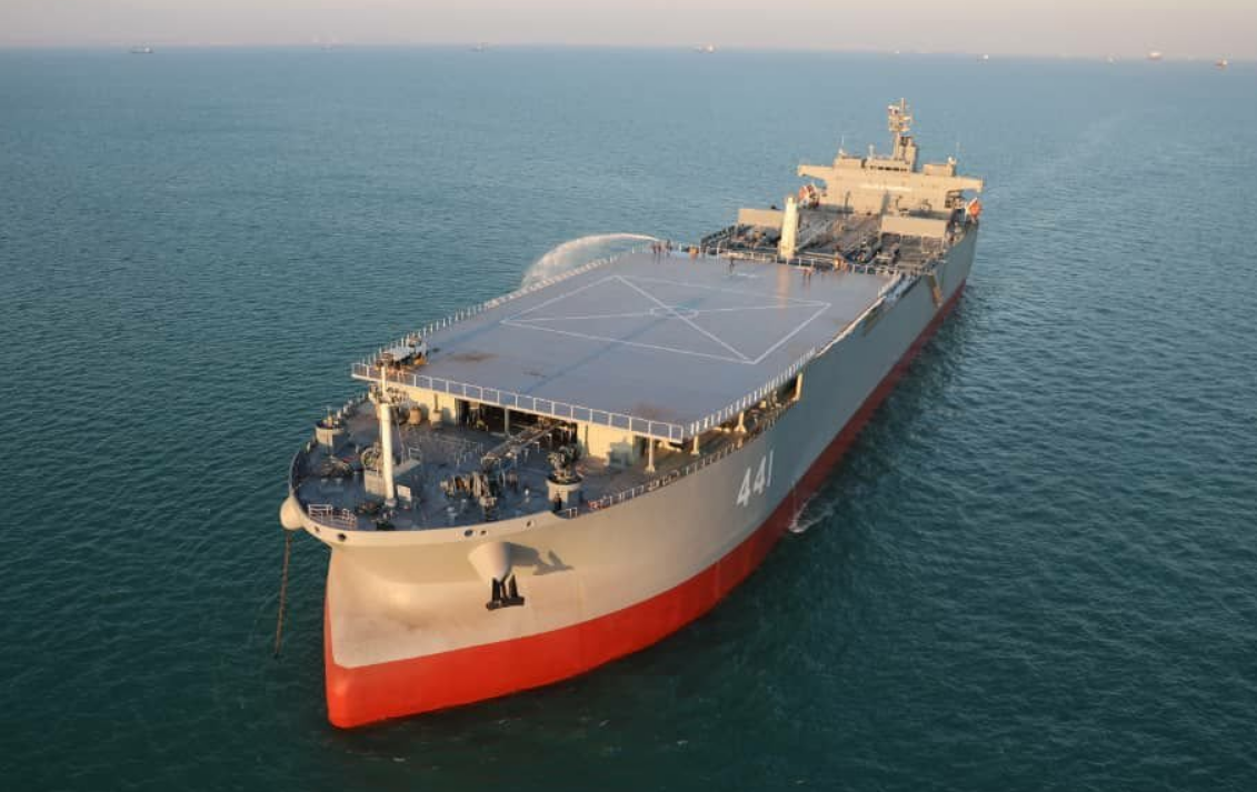 """伊朗""""海上基地舰""""靠近英吉利海峡,美媒:正前往俄罗斯参加阅兵"""