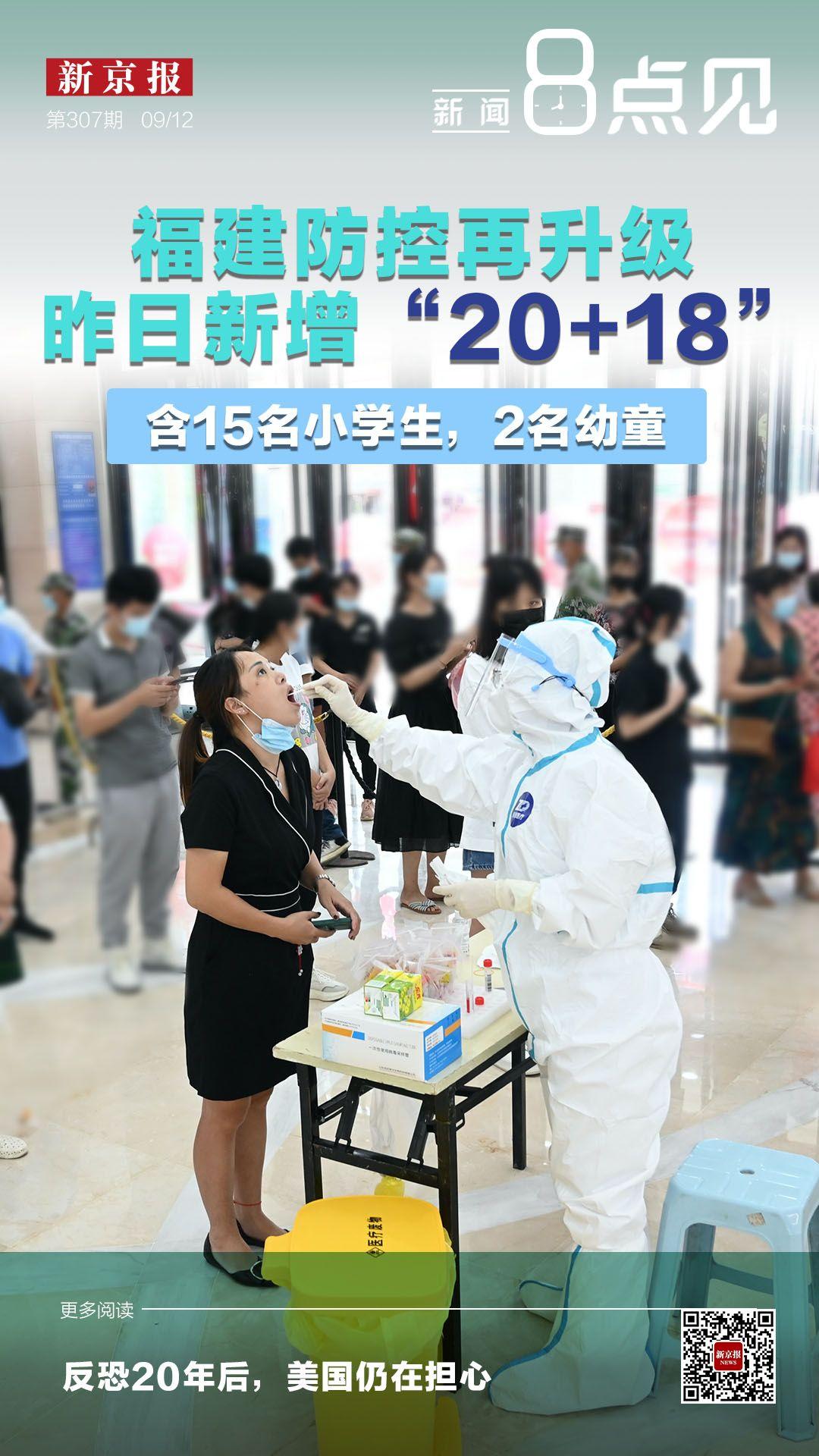 """新闻8点见丨福建防控再升级 11日新增""""20+18"""""""